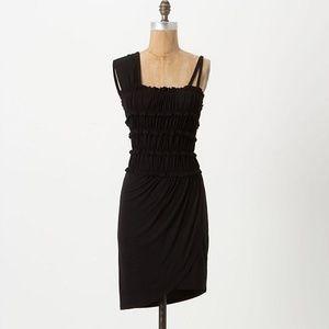 Anthropologie Leifnotes Divergent Mini Dress Black